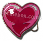 LARGE HEART - PINK Belt Buckle + display stand